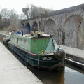 Chirk Aqueduct and Canal Boat