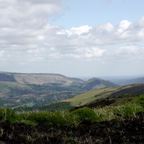 Castell Dinas Bran in the Dee Valley